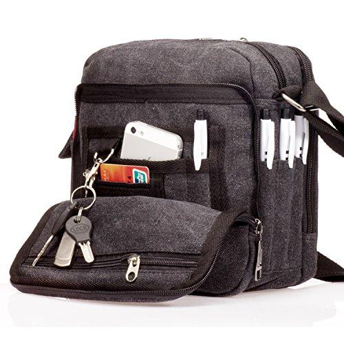 Kleine Tabs (Outreo Canvas Umhängetasche Herren Schultertasche Kleine Herrentaschen Vintage Messenger Bag Taschen für Schule Kuriertasche Tablet Segeltuchtaschen Reisetasche Sport Werkzeug Taschen sporttasche)