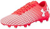 Under Armour UA CF Force 3.0 FG, Herren Fußballschuhe, Red (Neon Coral 611), 42.5 EU