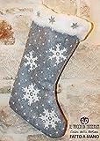 Weihnachts-Strumpf Neve handgefertigt Made in Italy- handgefertigt - handgemacht - Mädchen Geschenk Mädchen - Geschenke für sie - Weihnachten