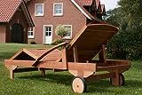 Hecht Sonnenliege - ERA -, Gartenliege, Holzliege, Liege aus Meranti Holz - 3