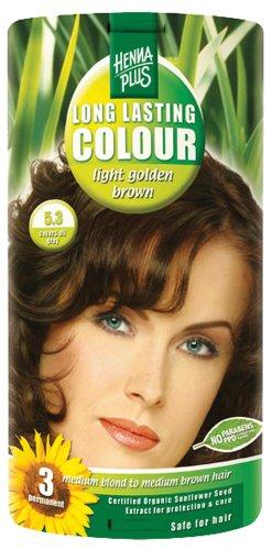 Hennaplus 49145 Long Lasting Colour 5,3 Light Golden Brown, 100ml -