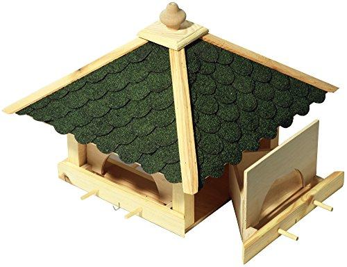 Luxus-Vogelhaus 98700e Großes XXL Vogelhaus aus Holz (Kiefer) für Garten, Balkon, mit 4 herausziehbaren Futterschubladen – XL Vogelhäuschen Vogelfutterhaus - 3