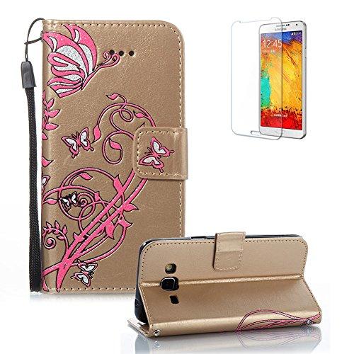 Gurt Lederhülle für Samsung Galaxy J3 2016 J320,Flip PU Leder Brieftasche für Samsung Galaxy J3...