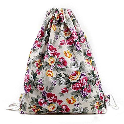 Longra Floreale Tela Rope Bag (Binaca)
