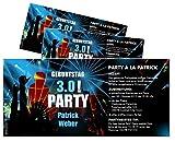 Unser-Festtag Einladungskarte Clubparty für Männer Coole Moderne Einladungen zum Geburtstag mit Spruch - 50 Karten