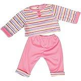 Bayer Design - Conjunto con camiseta y pantalón para muñecas, color rosa estriada (83823)