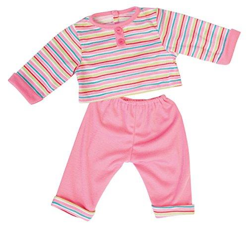 Bayer Design - Conjunto con camiseta y pantalón para muñecas, color rosa estriada (84623)