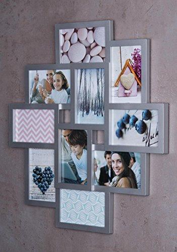 Bilderrahmen Collage 7 Fotos Fotorahmen Bildergalerie 3D-Optik Fotocollage DIY
