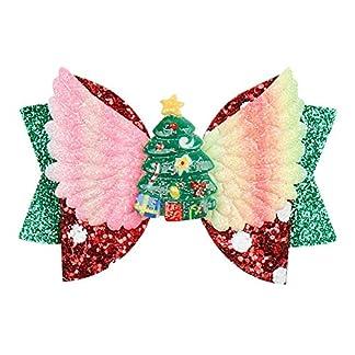 Accesorios Para El Cabello De Navidadlazos Para El Cabello De Navidad Con Santa Claus Girls Party Hairgrips Handmade Hair S Hair Accessories-2