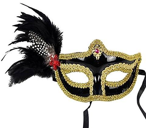 Colorful Feather Halloween Mask Fashion Men Women Sexy Half Face Masquerade Mask