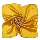 MEISHINE® 52*52cm Damen Elegant Seidenschal aus Reiner Seide (Golden)