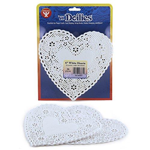 n, weiß, 6-inch (Herz-deckchen)