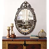 KURTZY Classic Antique Style Wall Mirror Oval Sculpt for Home Décor, Living Room, Bedroom and Bathroom (38 cm x 57 cm)