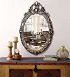 #9: Kurtzy Vintage style Home Decorative wooden Vanity wall Mirror glass for Living Bathroom Bedroom