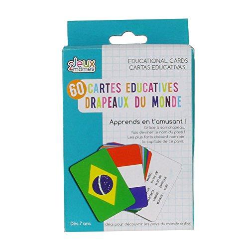 Spiele 2Momes-ea5032-Karten educatives Land und Flagge