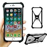 Schwarz Ring Halter Handytasche für Umi Touch LTE Z2 Z G C Note 2 C2 A3 Pro A1 London eMAX Silikon Schutzhülle Tasche Hülle Cover Case Bumper Elastischem Weiche Etui 360° Finger Griff Stoßstange