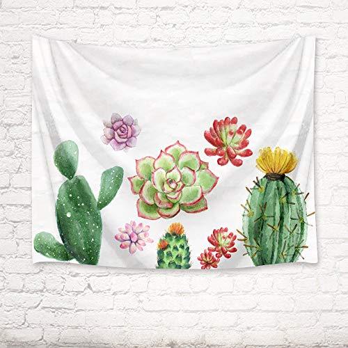 mmzki Tapiz de Toalla de Playa Flor de árbol de Cactus nórdico 13 150x100cm