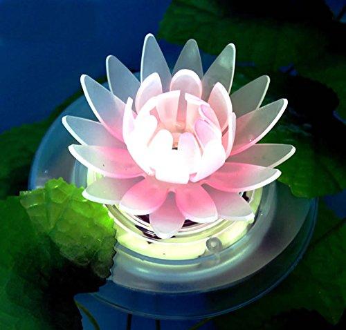 Lampe Flottante Piscine Solaire, Lumiere pour Piscine, Lampe Changeante de Couleur Extérieure Imperméable de RVB de LED pour la Décoration de Piscine ou de Bassin(Lotus 1pcs)