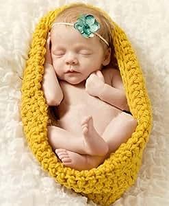 nouveau-né en tricot de laine, barboteuse , sac de couchage de crochet , Photographie Props