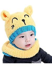 Fablcrew Cappello Sciarpe Bambino Autunno Invernale Carina Gatto Beanie  Cappelli Berretto Bambini Infantili del Cappello per d630b1e2186a
