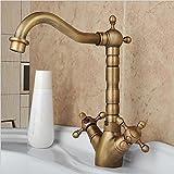 XG Creative faucet antique basin mixer faucet hot and cold basin bathroom hand wheel faucet