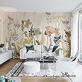 Bacal Original Design Grande Dipinto 3D Fiore murales Wallpaper per Soggiorno Divano Sfondo 3D Parete Foto murales-280x200cm