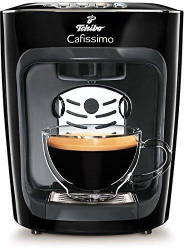 Tchibo Cafissimo mini Kaffeekapselmaschine (für Kaffee, Espresso, Caffé Crema und Tee) schwarz (Mitternachtsschwarz) -