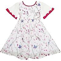Sunny Fashion - Vestito stampa animalier, bambina, rosa