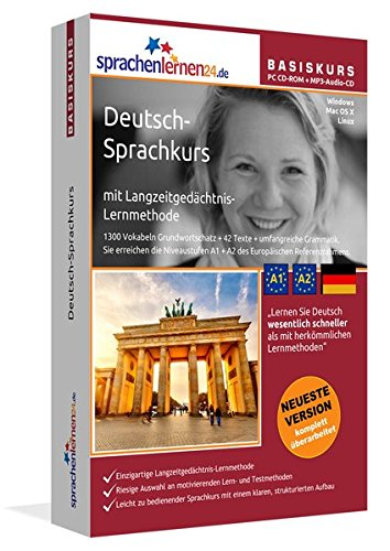 Sprachenlernen24.de Deutsch-Basis-Sprachkurs: Lernsoftware auf CD-ROM für Windows/Linux/Mac OS X + Audio-Vokabeltrainer auf CD für Ihren Computer / MP3-Player / MP3-fähigen CD-Player