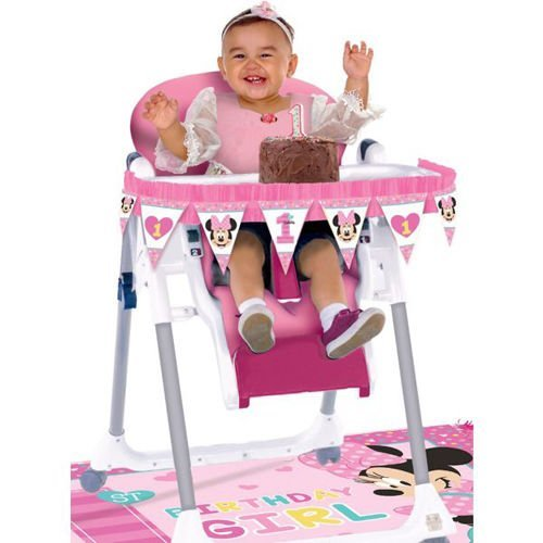 Minnie Mouse Fun zu einem hohen Stuhl Dekoration Kit (2 Stück) (Kuchen-kits Minnie Maus)