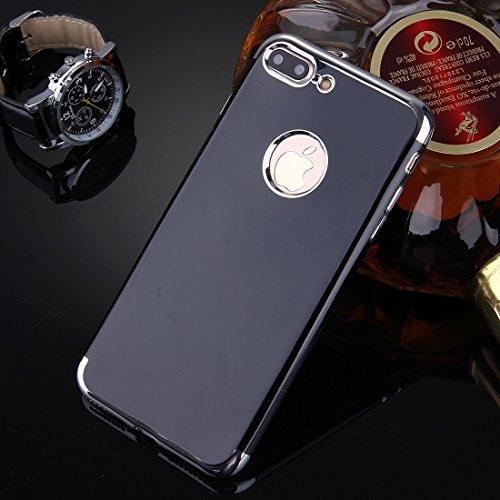 DaYiYang Für iPhone 7 Plus Spiegel TPU Schutzhülle Case Anti-Rutsch Verschleiß-resistent ( Color : Gold ) Silver
