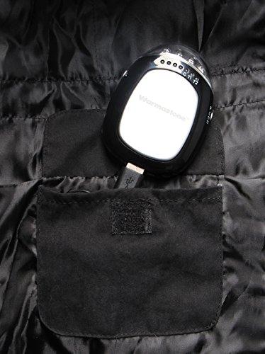 Warmawear beheizbare weste mit gepolstertem Kragen, Schwarz (Mitte / Groß) - 3