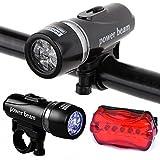 Divinezon Waterproof Bright 5 Led Bike Bicycle Head & Rear Lights 6