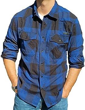 Camisa de hombre Brandit, de franela, a cuadros