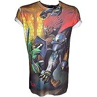 NINTENDO Legend of Zelda sublimación de impresión Enlace de la camiseta de los hombres de Lucha (grande)