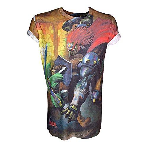 NINTENDO Legend of Zelda sublimación de impresión Enlace de la camis