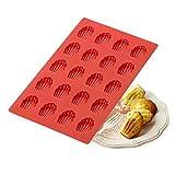 ED-Lumos 20Hohlraum, DIY Rot Shell Madeleine Silikon Formen Cookie Cutter für Backen BPA-frei