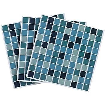 infactory Selbstklebende Folie: Selbstklebende 3D-Mosaik ...