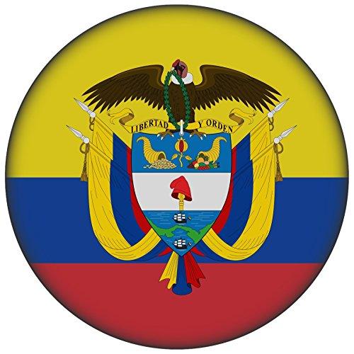 Button / Badge / Pin -- I Love Kolumbien Fahne Flagge (Kolumbien-Wappen/Flagge) (Wappen Button)