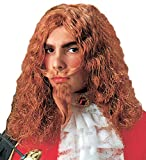 MUSKETEER WIG W/MOUSTACHE & GOATEE BEARD Accessory for Athos Aramis d