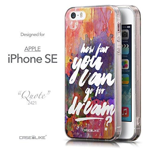 CASEiLIKE Zitat 2402 Ultra Slim Back Hart Plastik Stoßstange Hülle Cover for Apple iPhone SE +Folie Displayschutzfolie +Eingabestift Touchstift (Zufällige Farbe) 2421