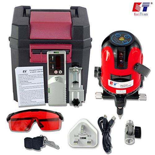 kaitian-self-leveling-laser-3-lines-4-points-automatic-laser-level-with-detector-receiver
