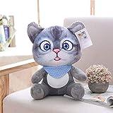 WDTong weiche Simulation 3D füllte Katzenspielwaren, Sofakissen-Kissen-Plüsch-Tierkatzen-Puppen für Kinderspielzeug-Geschenke an (B)