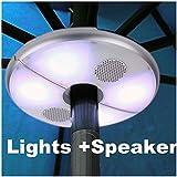 Patio LED Umbrella Luz con Altavoz Bluetooth