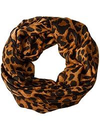 Loop Damen Schal und Tuch Schlauchtuch Edles Leoparden Muster Schwarz-Weiß