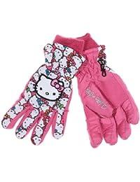 Skihandschuhe Kinder Mädchen Hello Kitty rosa und schwarz von 4bis 10Jahre