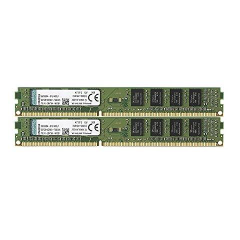 Kingston KVR16N11S8K2/8 Arbeitsspeicher 8GB (DDR3 Non-ECC CL11 DIMM Kit, 240-pin, 1.5V), farblich sortiert.
