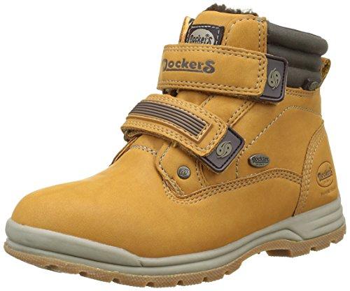 Dockers by Gerli Unisex-Kinder 37wa702-630910 Combat Boots Gelb (GOLDEN Tan 910)