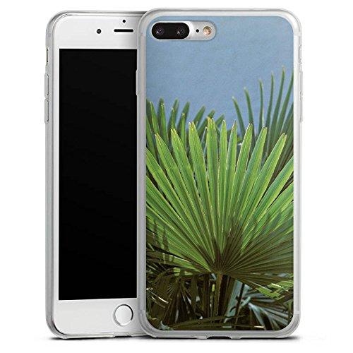 Apple iPhone 8 Slim Case Silikon Hülle Schutzhülle Palme Blatt Palmenwedel Silikon Slim Case transparent