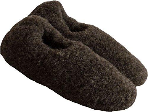 E Suole Unisex 100 Di Riscaldamento Lana Formato Di Confortevole 48 Guardare Pecora 35 Reni Presa Lana Morbida Pantofole Marrone Samwo qwxt0pn48g
